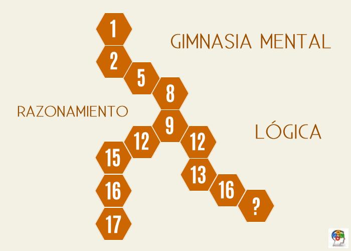 Razona y completa la serie de números
