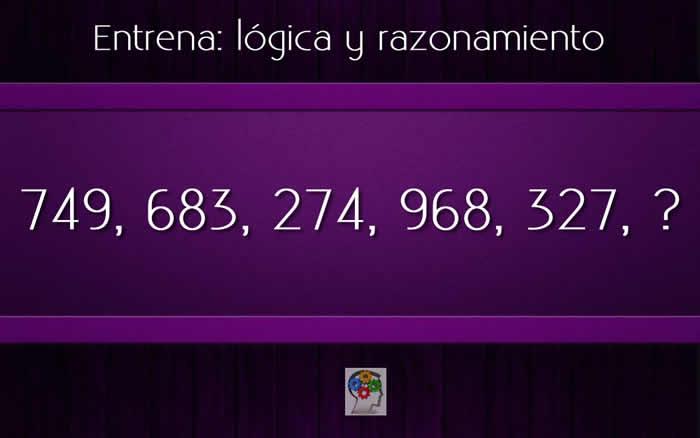 Razona y encuentra el número que continúa la serie