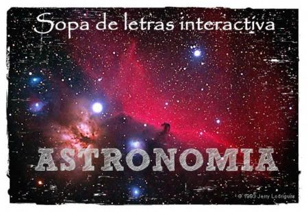 Sopa de letras con términos usados en Astronomía