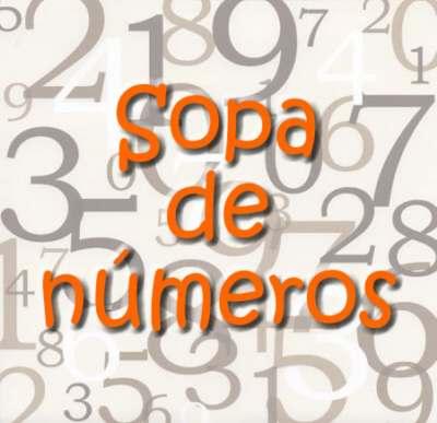 Sopa de letras con números