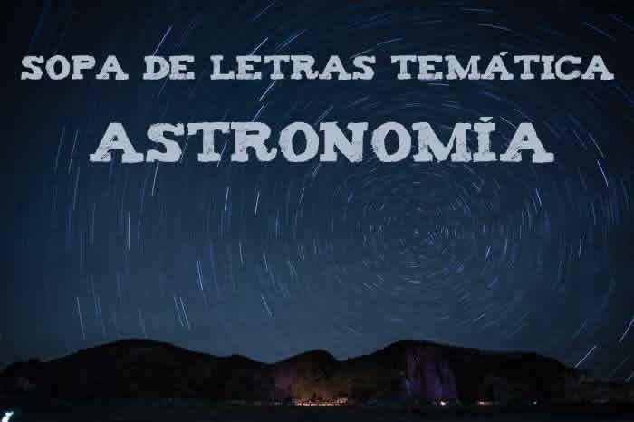 Sopa de letras temática: astronomía