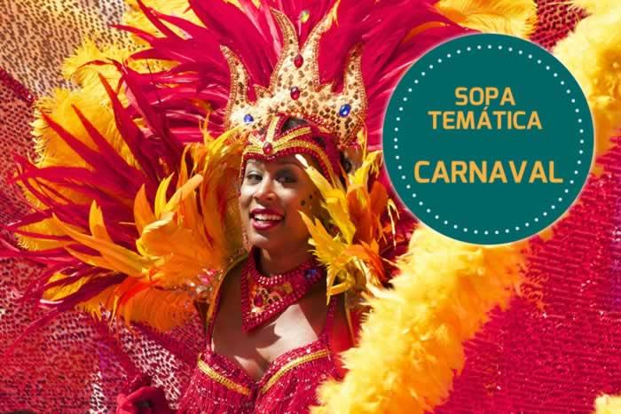 Sopa de letras temática: Carnaval