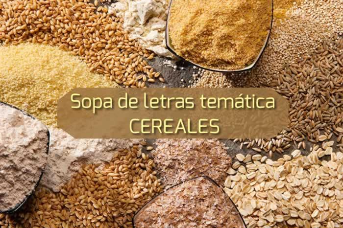 Sopa de letras temática: cereales