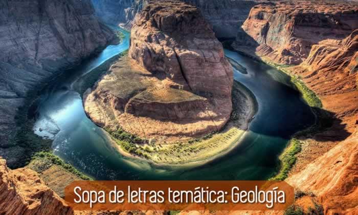 Sopa de letras temática: Geología