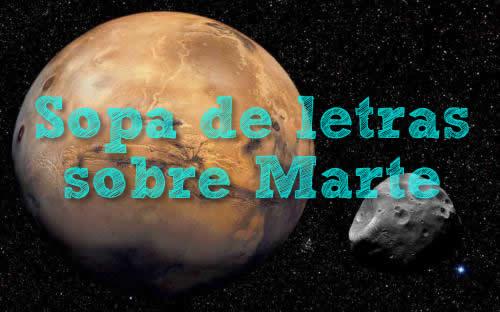 Sopa interactiva marte el planeta rojo