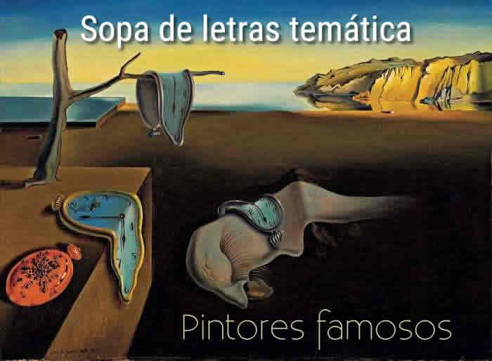 Sopa de letras temática: pintores famosos