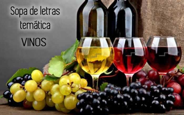 Sopa de letras temática: vinos