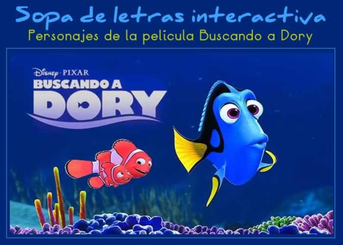 Encuentra los personajes de Buscando a Dory