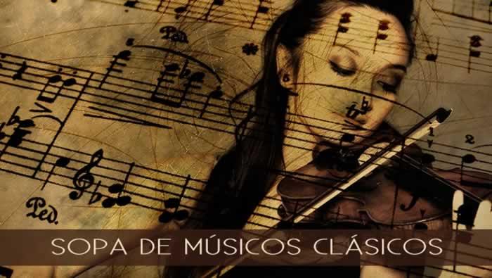 Sopa de letras temática: músicos clásicos