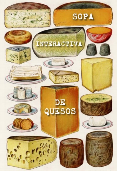 Sopa de letras con nombres de quesos