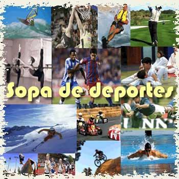 Sopa interactiva de deportes