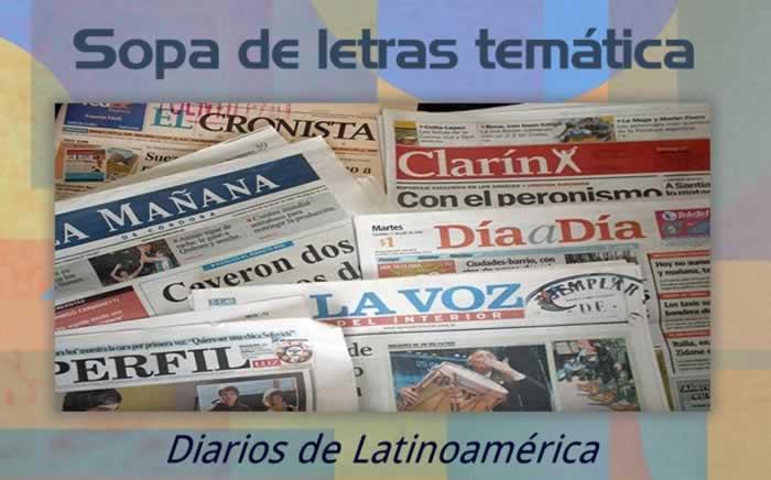 Sopa de letras temática: diarios latinoamericanos