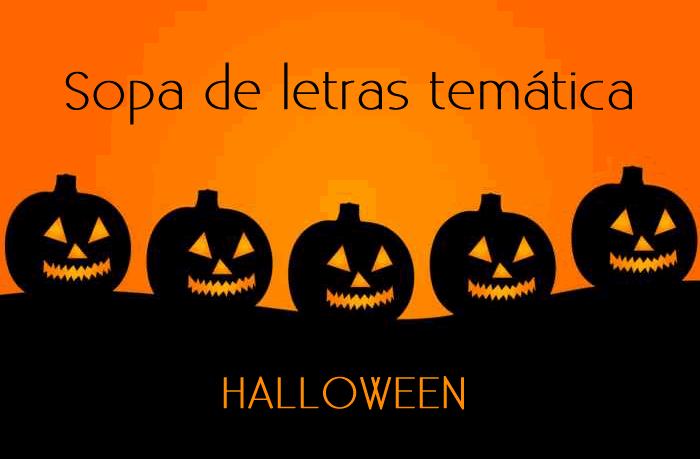 Sopa de letras temática: Halloween