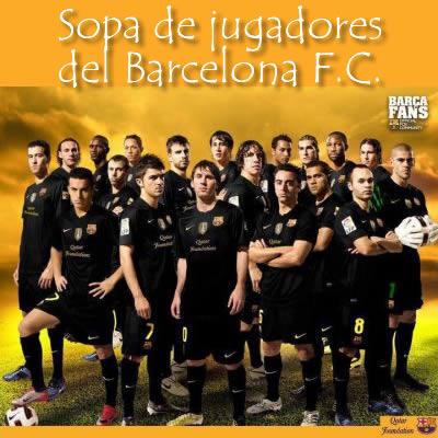 Sopa de jugadores del Barcelona