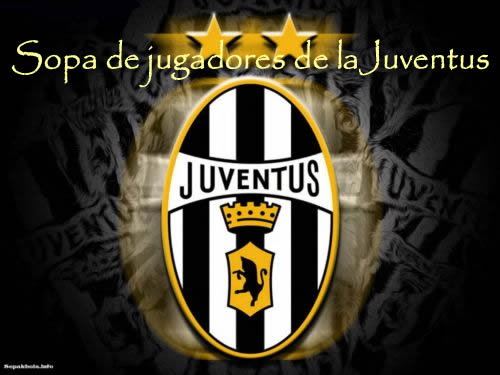 Sopa interactiva con jugadores de la Juventus