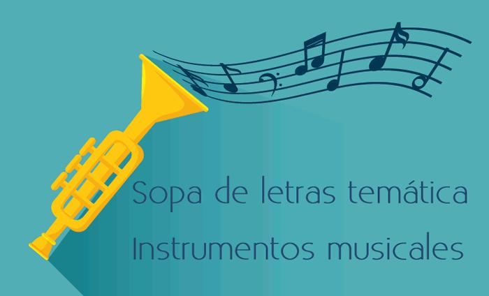 Sopa de letras interactiva temática: instrumentos musicales
