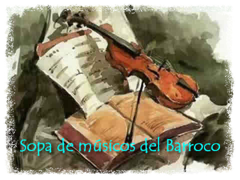 Sopa interactiva de músicos barrocos