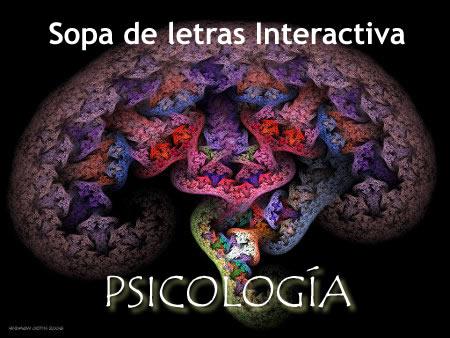 Sopa de letras sobre psicología