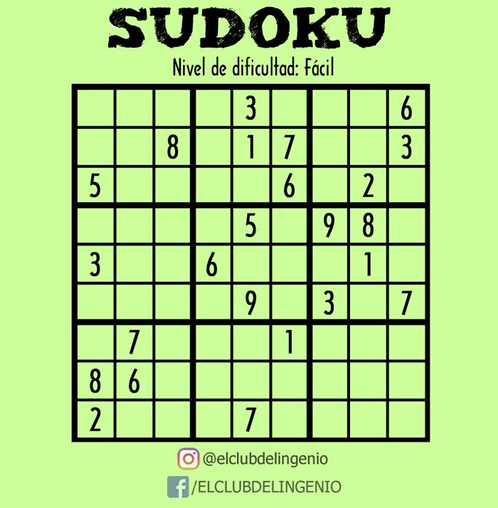 Otro sudoku para entrenar tus neuronas