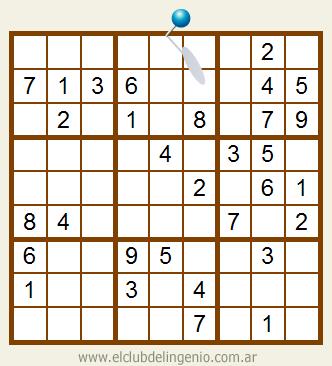 Sudoku de muy fácil resolución