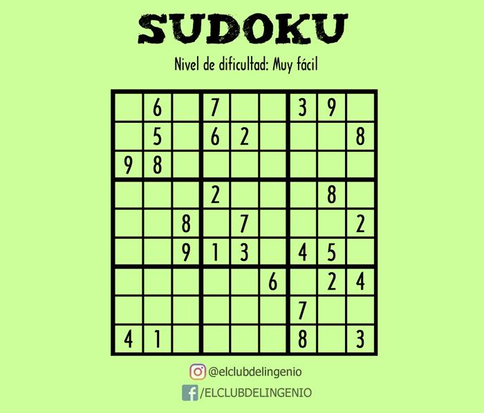 Entrena y agiliza tu mente con este fácil sudoku