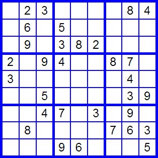 Sudoku muy fácil de resolver