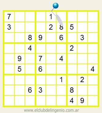 Sudoku muy difícil de resolver