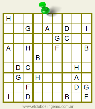 Sudoku formado por letras