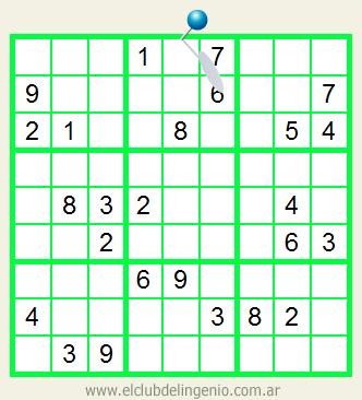 Sudoku interactivo de dificultad media