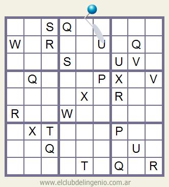 Sudoku interactivo con letras