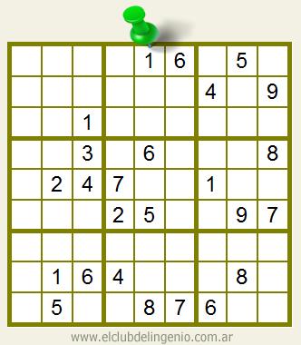 Sudoku de muy difícil resolución