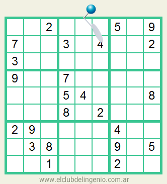 Sudoku interactivo difícil de resolver