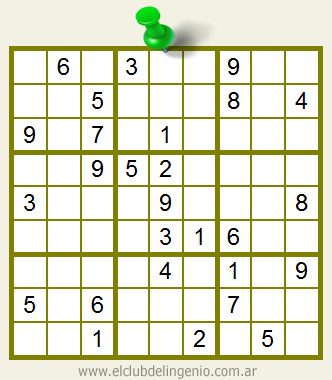 Sudoku interactivo mediana dificultad