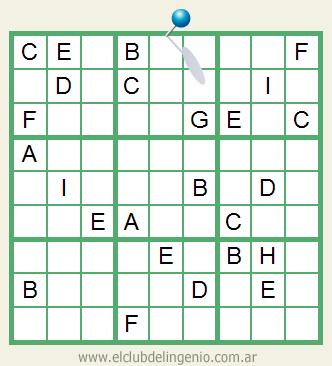 Nuevo sudoku con letras