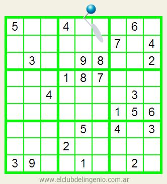 Sudoku de difícil resolución