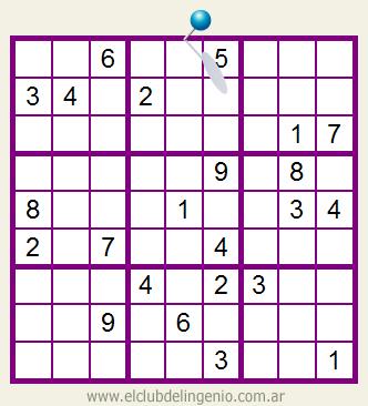 Nuevo sudoku interactivo online