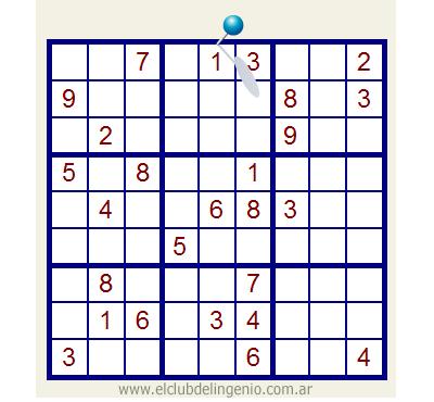 Otro sudoku de nivel de dificultad alta