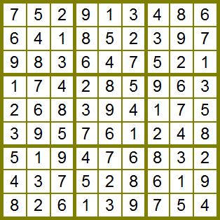 Solución al sudoku50411