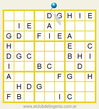 Fácil sudoku con letras