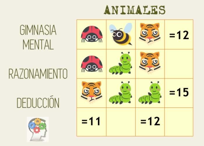 Suma lógica de animales