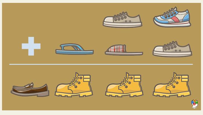 Suma de calzados