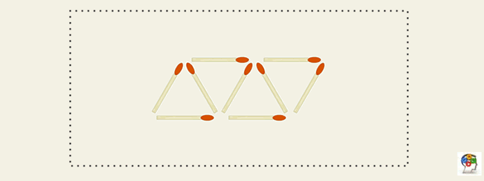 Triángulos con cerillas