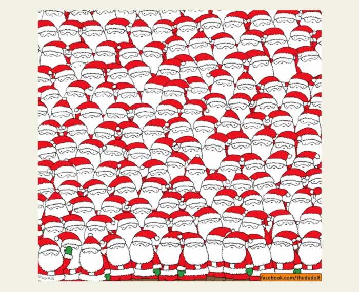 Un montón de Santa Claus. Entrena tu percepción visual